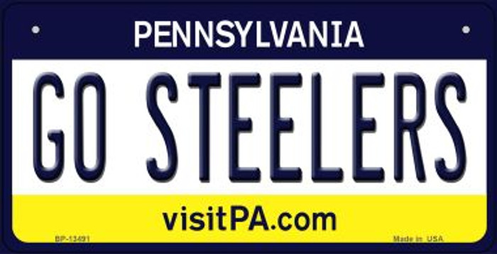 Go Steelers Wholesale Novelty Metal Bicycle Plate BP-13491