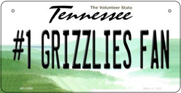 Number 1 Grizzlies Fan Wholesale Novelty Metal Bicycle Plate BP-13506