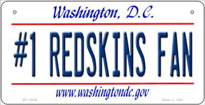 Number 1 Redskins Fan Wholesale Novelty Metal Bicycle Plate BP-13536