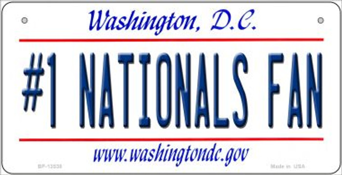 Number 1 Nationals Fan Wholesale Novelty Metal Bicycle Plate BP-13538