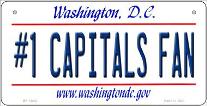 Number 1 Capitals Fan Wholesale Novelty Metal Bicycle Plate BP-13542