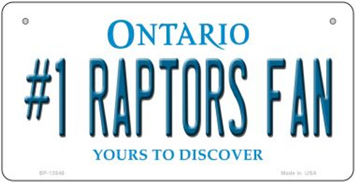 Number 1 Raptors Fan Wholesale Novelty Metal Bicycle Plate BP-13546