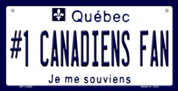 Number 1 Canadiens Fan Wholesale Novelty Metal Bicycle Plate BP-13550