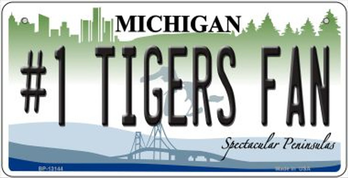 Number 1 Tigers Fan Wholesale Novelty Metal Bicycle Plate BP-13144