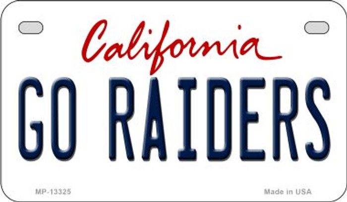 Go Raiders Wholesale Novelty Metal Motorcycle Plate MP-13325