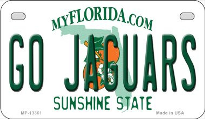 Go Jaguars Wholesale Novelty Metal Motorcycle Plate MP-13361