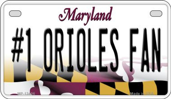 Number 1 Orioles Fan Wholesale Novelty Metal Motorcycle Plate MP-13406