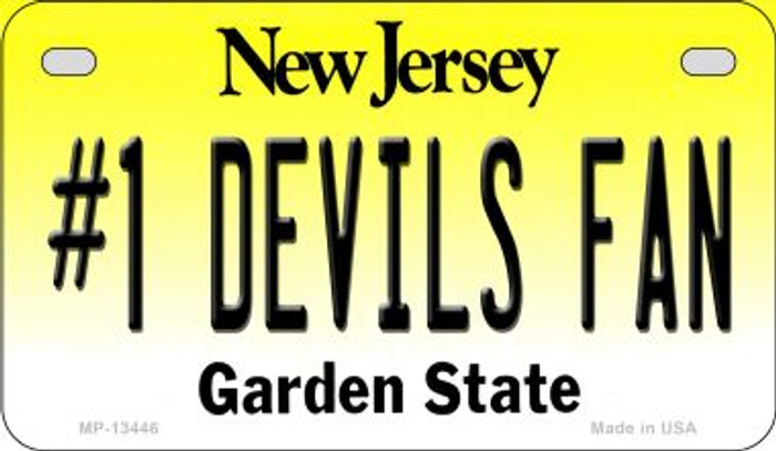 Number 1 Devils Fan Wholesale Novelty Metal Motorcycle Plate MP-13446