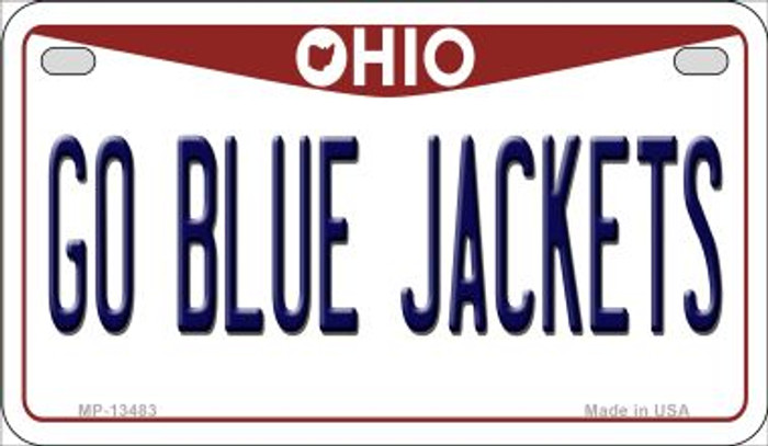 Go Blue Jackets Wholesale Novelty Metal Motorcycle Plate MP-13483