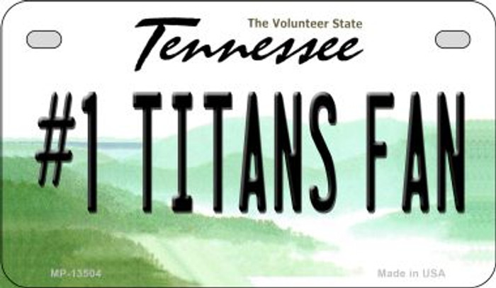 Number 1 Titans Fan Wholesale Novelty Metal Motorcycle Plate MP-13504