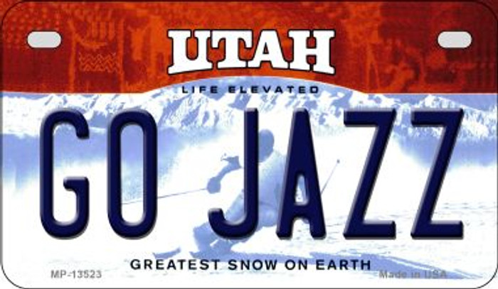 Go Jazz Wholesale Novelty Metal Motorcycle Plate MP-13523