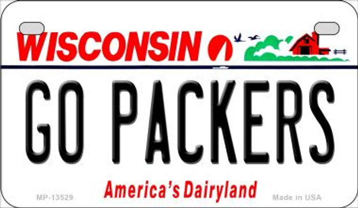 Go Packers Wholesale Novelty Metal Motorcycle Plate MP-13529