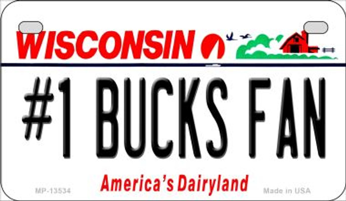Number 1 Bucks Fan Wholesale Novelty Metal Motorcycle Plate MP-13534
