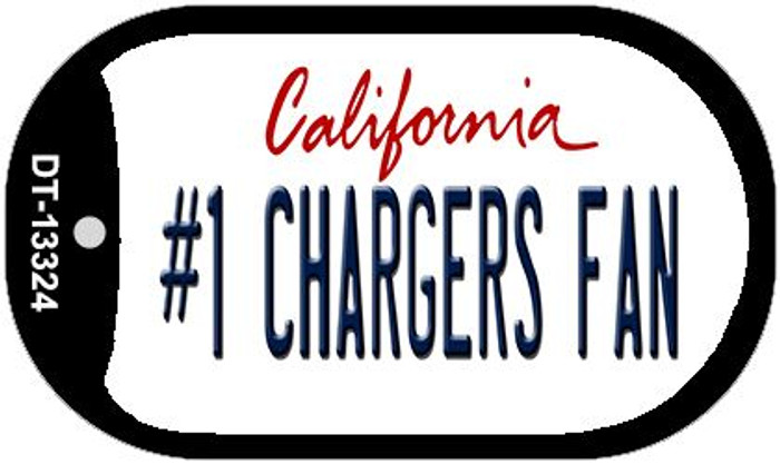 Number 1 Chargers Fan Wholesale Novelty Metal Dog Tag Necklace DT-13324