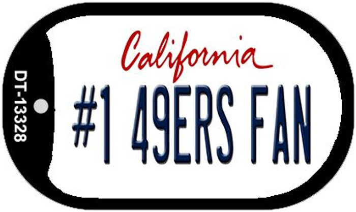 Number 1 49ers Fan Wholesale Novelty Metal Dog Tag Necklace DT-13328