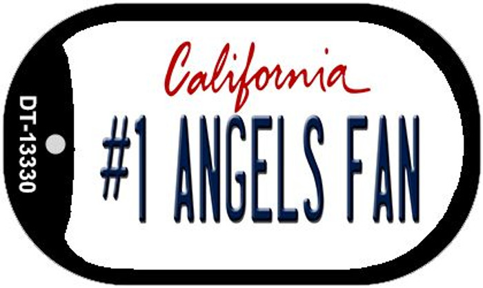 Number 1 Angels Fan Wholesale Novelty Metal Dog Tag Necklace DT-13330