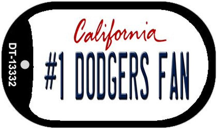 Number 1 Dodgers Fan Wholesale Novelty Metal Dog Tag Necklace DT-13332