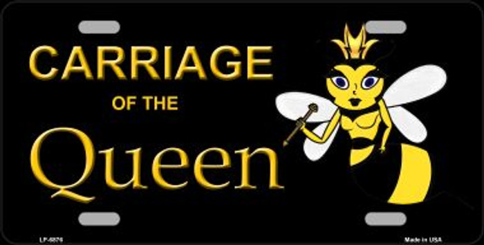 Carriage Of Queen Bee Wholesale Metal Novelty License Plate LP-6876