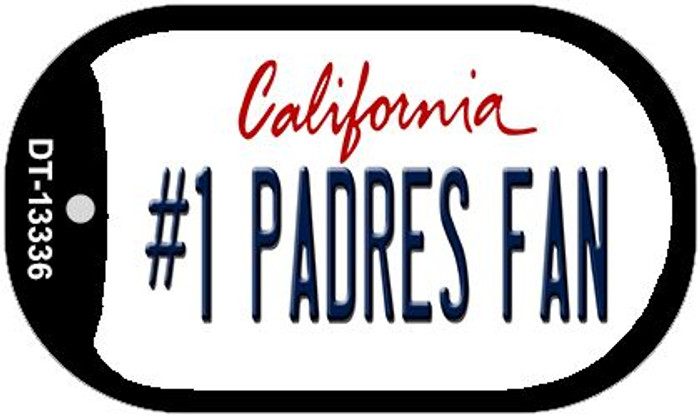 Number 1 Padres Fan Wholesale Novelty Metal Dog Tag Necklace DT-13336