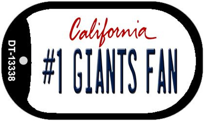 Number 1 Giants Fan Wholesale Novelty Metal Dog Tag Necklace DT-13338