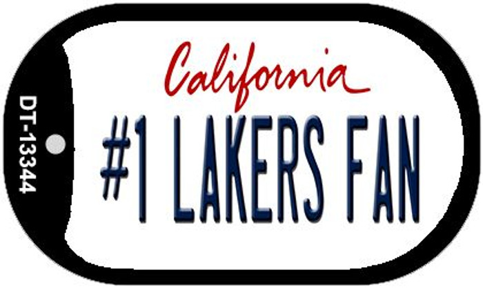Number 1 Lakers Fan Wholesale Novelty Metal Dog Tag Necklace DT-13344