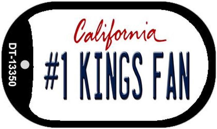 Number 1 Kings Fan Wholesale Novelty Metal Dog Tag Necklace DT-13350