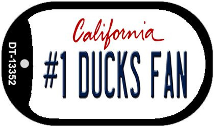 Number 1 Ducks Fan Wholesale Novelty Metal Dog Tag Necklace DT-13352
