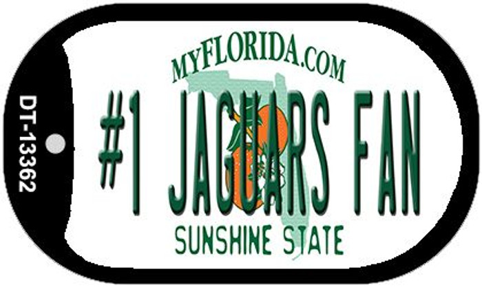 Number 1 Jaguars Fan Wholesale Novelty Metal Dog Tag Necklace DT-13362