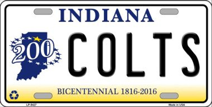 Colts Indiana State Background Novelty Wholesale Metal License Plate LP-5427