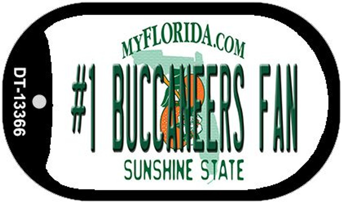 Number 1 Buccaneers Fan Wholesale Novelty Metal Dog Tag Necklace DT-13366