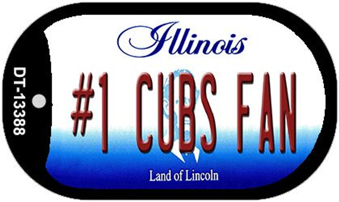 Number 1 Cubs Fan Wholesale Novelty Metal Dog Tag Necklace DT-13388