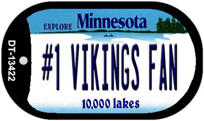 Number 1 Vikings Fan Wholesale Novelty Metal Dog Tag Necklace DT-13422