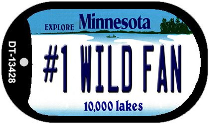 Number 1 Wild Fan Wholesale Novelty Metal Dog Tag Necklace DT-13428