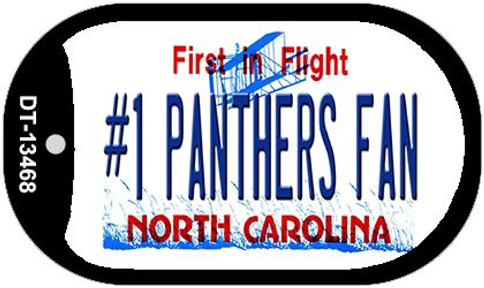 Number 1 Panthers Fan Wholesale Novelty Metal Dog Tag Necklace DT-13468
