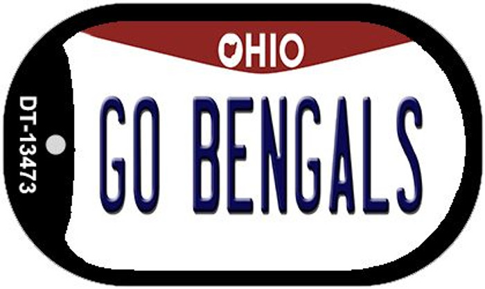 Go Bengals Wholesale Novelty Metal Dog Tag Necklace DT-13473