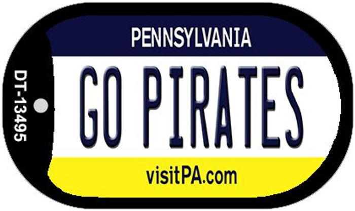 Go Pirates Wholesale Novelty Metal Dog Tag Necklace DT-13495