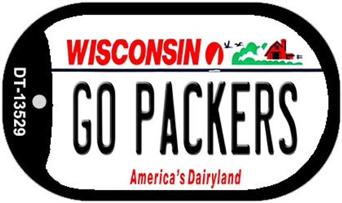 Go Packers Wholesale Novelty Metal Dog Tag Necklace DT-13529