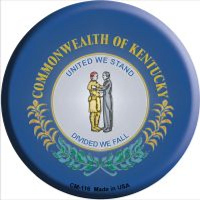Kentucky State Flag Wholesale Novelty Metal Mini Circle Magnet CM-116