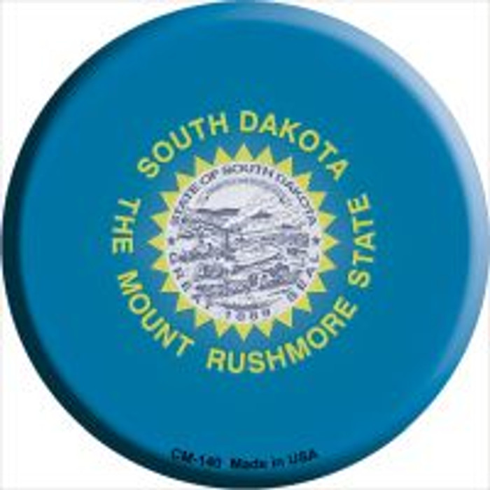South Dakota State Flag Wholesale Novelty Metal Mini Circle Magnet CM-140