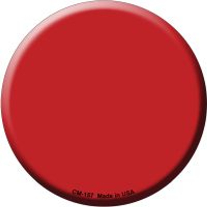 Red Wholesale Novelty Metal Mini Circle Magnet CM-157