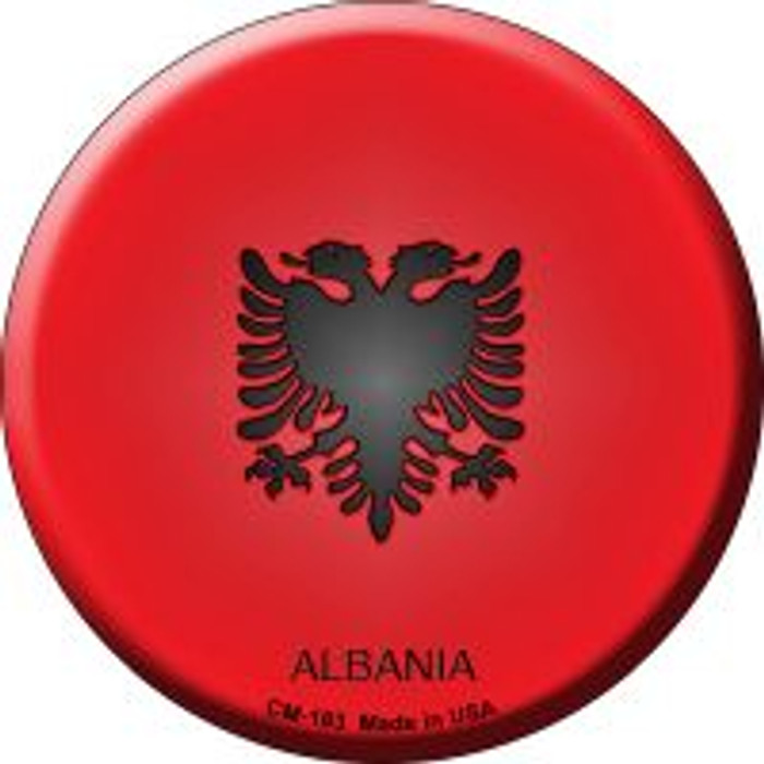 Albania Country Wholesale Novelty Metal Mini Circle Magnet CM-183