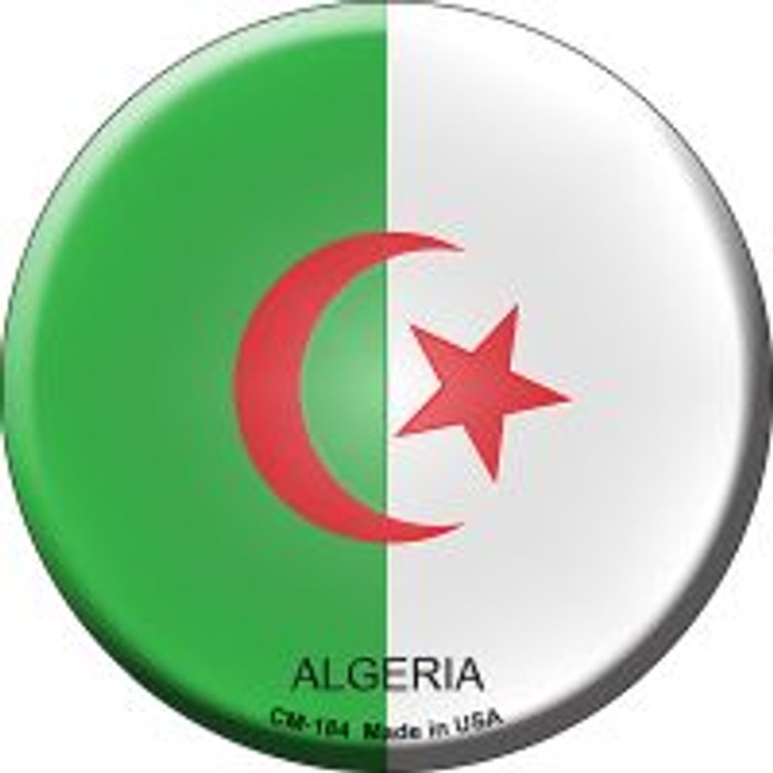Algeria Country Wholesale Novelty Metal Mini Circle Magnet CM-184