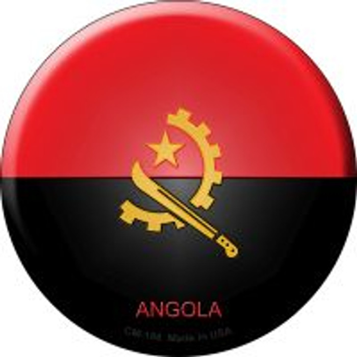 Angola Country Wholesale Novelty Metal Mini Circle Magnet CM-188