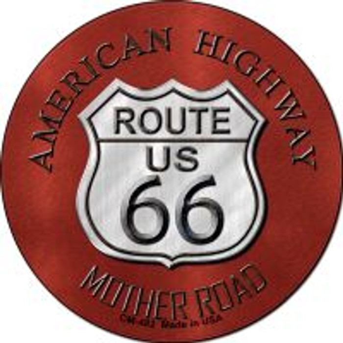 Route 66 American Highway Wholesale Novelty Metal Mini Circle Magnet CM-482