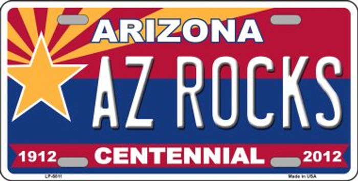 Arizona Centennial Az Rocks Novelty Wholesale Metal License Plate LP-6811