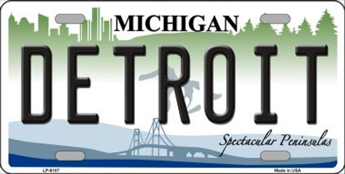 Detroit Michigan Wholesale Metal Novelty License Plate LP-6107