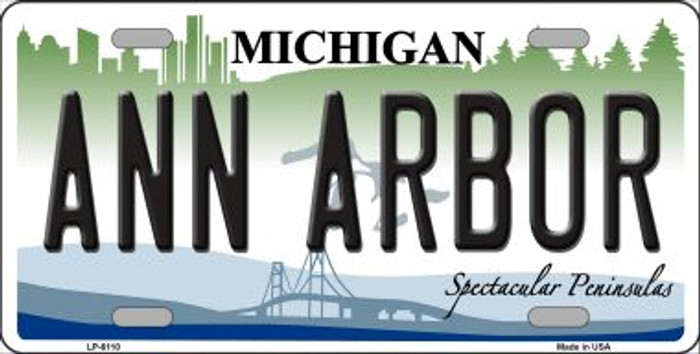 Ann Arbor Michigan Wholesale Metal Novelty License Plate LP-6110