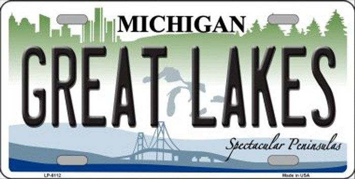 Great Lakes Michigan Wholesale Metal Novelty License Plate LP-6112