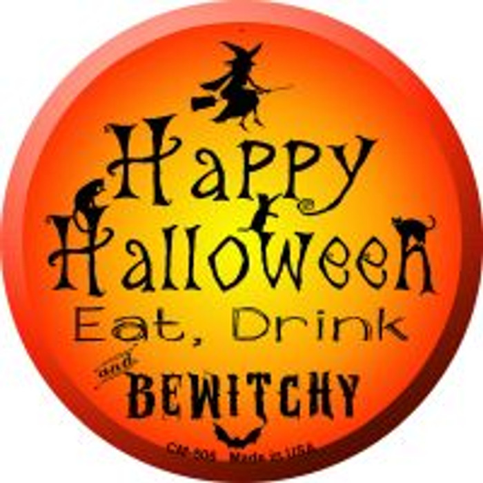 Happy Halloween Wholesale Novelty Metal Mini Circle Magnet CM-506