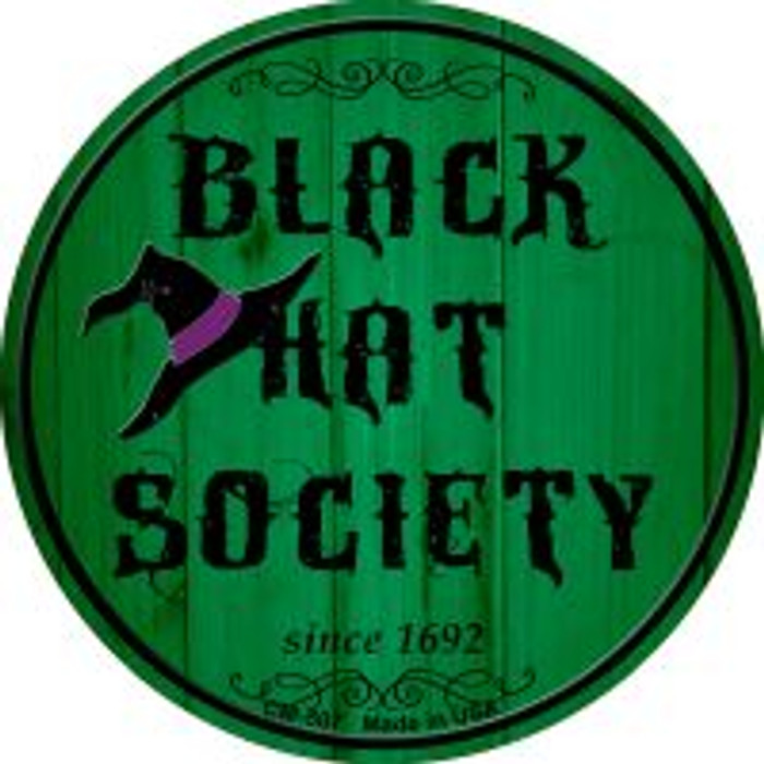 Black Hat Society Wholesale Novelty Metal Mini Circle Magnet CM-507
